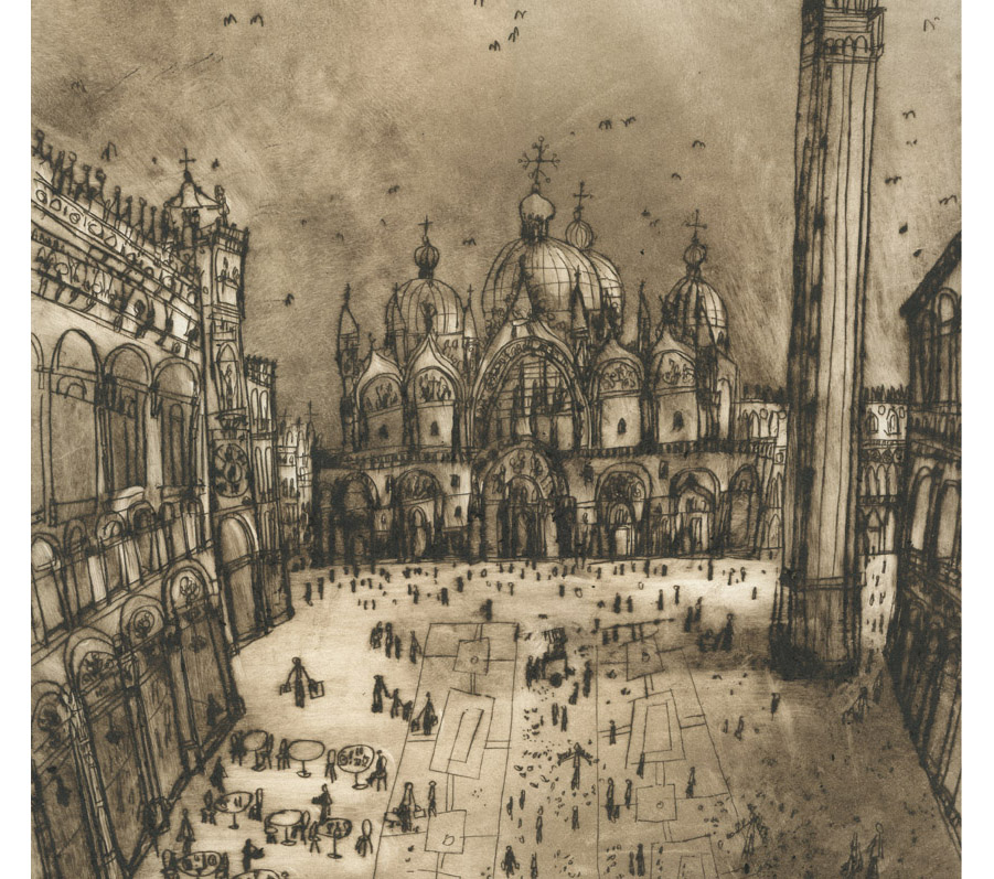 'St Mark's Square Venice'    (DETAIL)   Giclee print
