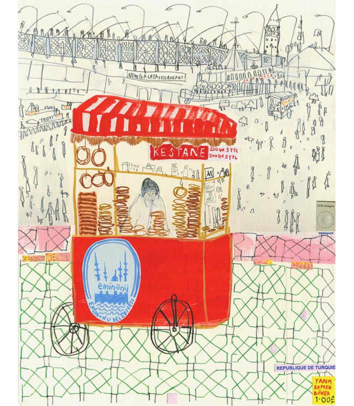 'Eminonu Street Seller'  Giclee print Image size 30 x 37.5 cm Edition size 195     £140