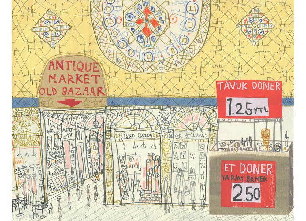 'The Grand Bazzar Istanbul'         Giclee print        Image size approx A3       Edition size 195     £140