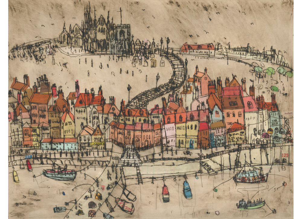 'Whitby Harbour'  Giclee print 39 x 30 cm Edition size 150  £145 (Also available 27.5 x 21 cm £85)