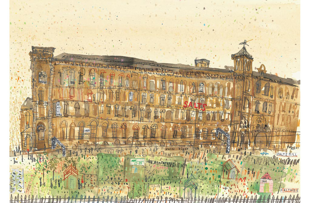 'Allotments by The Mill Saltaire'  Giclee print 42 x 29 cm Edition size 150  £145