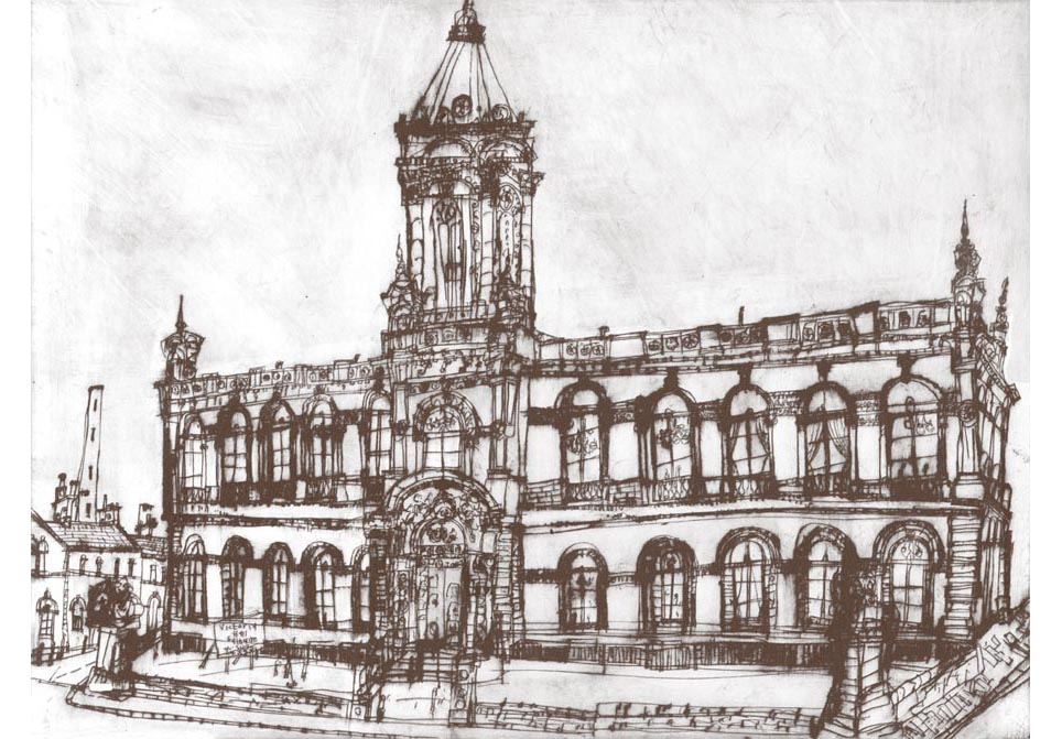 'Victoria Hall Saltaire'  Giclee print 39 x 30 cm Edition size 195  £145