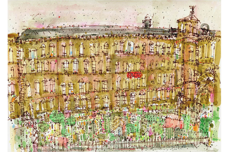 'The Mill Saltaire'  Giclee print Image size 42 x 29 cm Edition size 195  £140