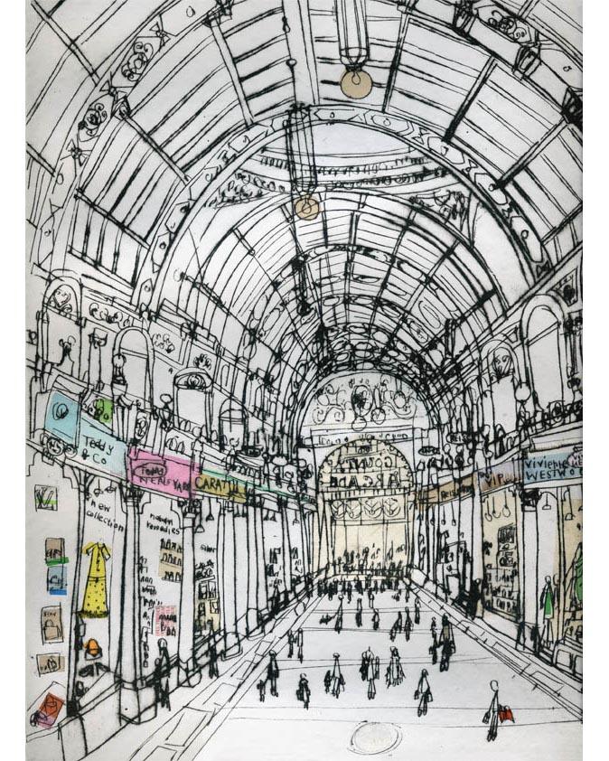 'Boutique shopping,          Victoria Quarter'