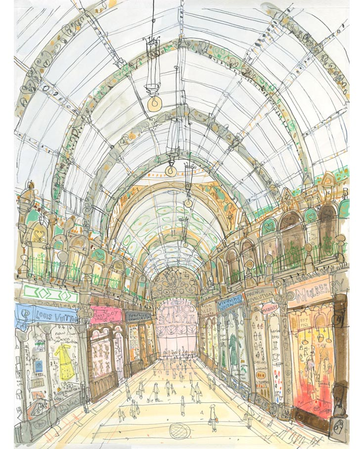 'Shop Fronts County Arcade'  Giclee print 30 x 40 cm Edition size 195 £140