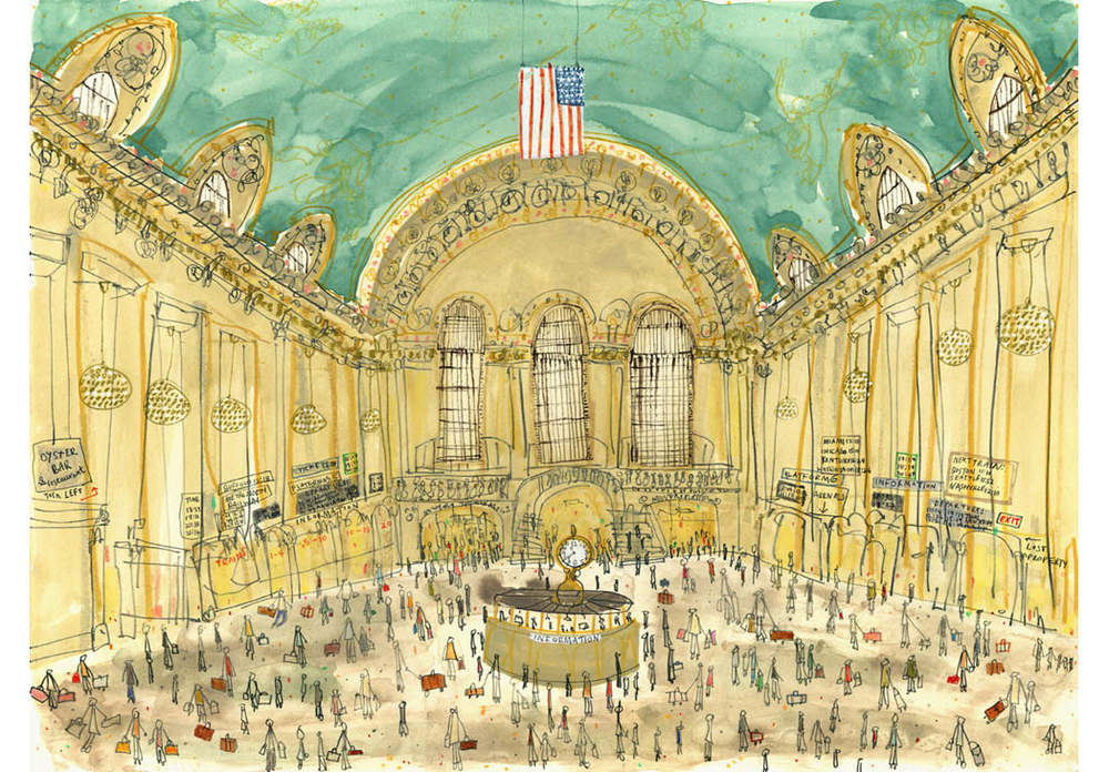 'Grand Central Station New York'  Giclee print Image size 41 x 30 cm Edition size 195   £145
