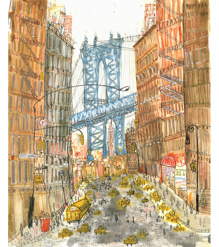 'Manhattan Bridge New York'  Giclee print    30 x 37 cm Edition size 195     £140