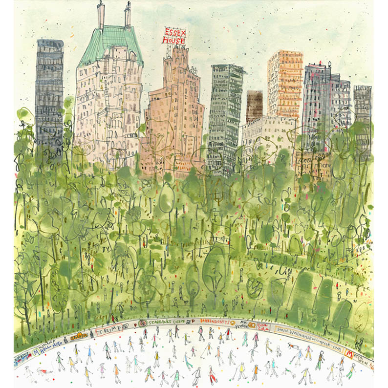 'Skating in Central Park NYC'  Giclee print   30 x 32cm Edition size 150   £140
