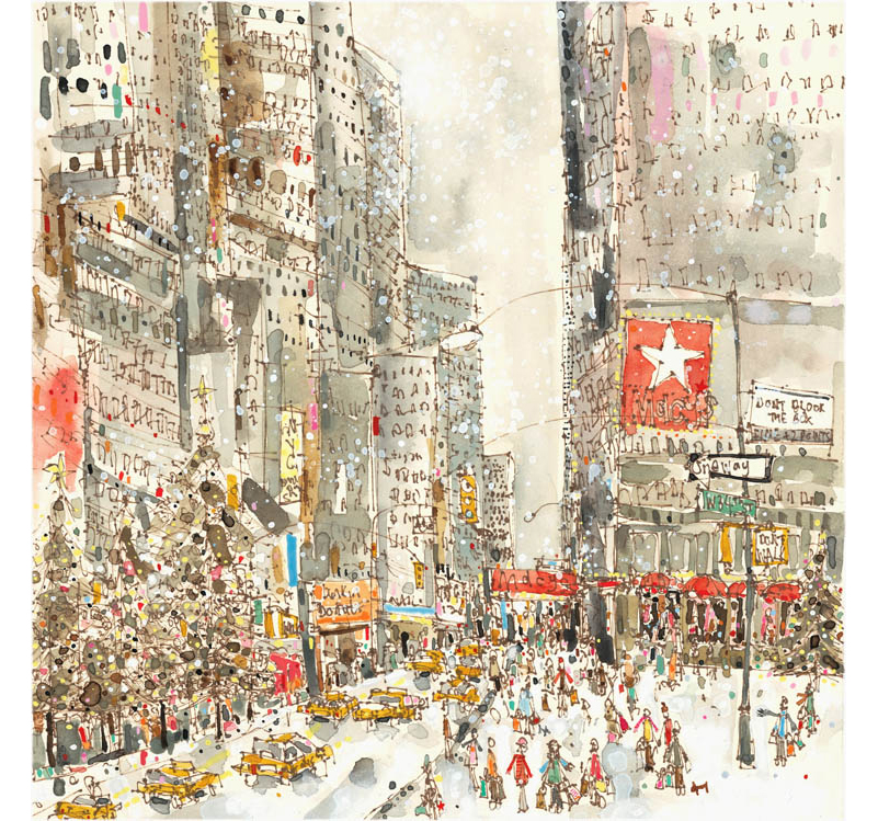 'Snow Falling on West 34th St'  Giclee print   32 x 32 cm Edition size 195    £140