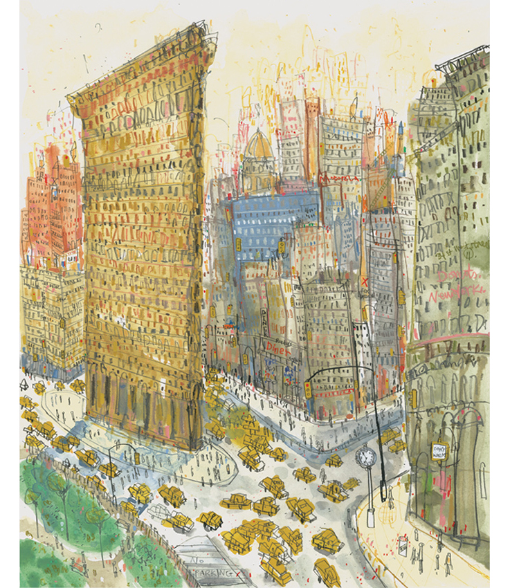 'Flatiron Manhattan NYC'  Giclee print 29.5 x 36.3 cm Edition size 195   £145