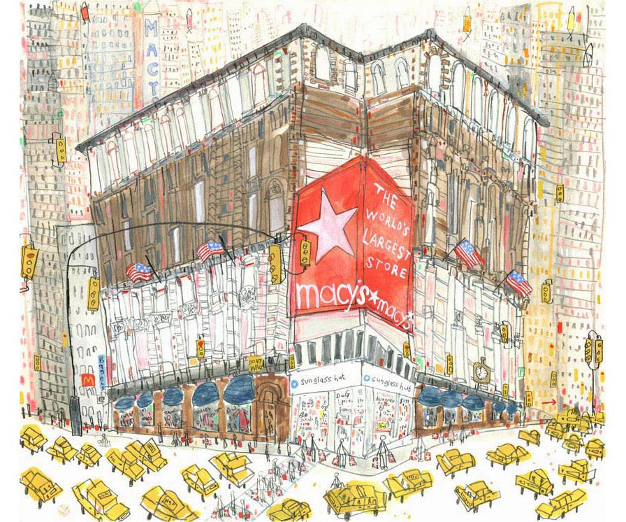 'Macys New York'  Giclee print 35 x 31 cm Edition size 195   £145