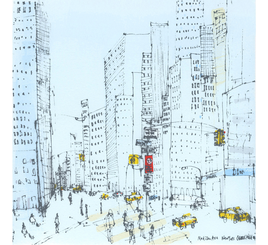 Madison Avenue New York  Screenprint  30 x 30 cm Edition size 20  £195
