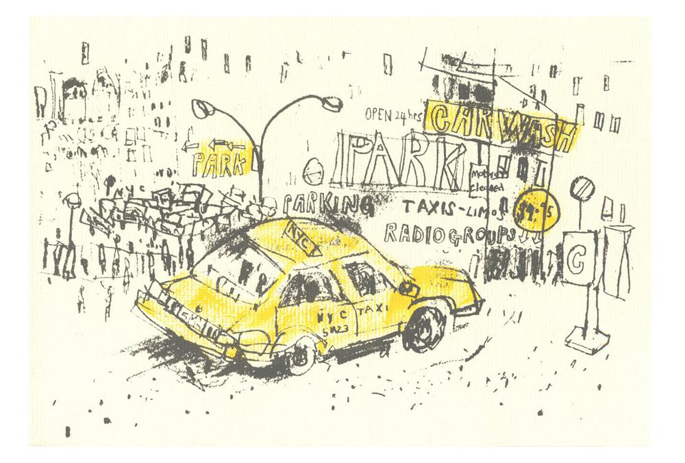 New York Taxi Carwash  Screenprint  58 x 39 cm Edition size 100  £160