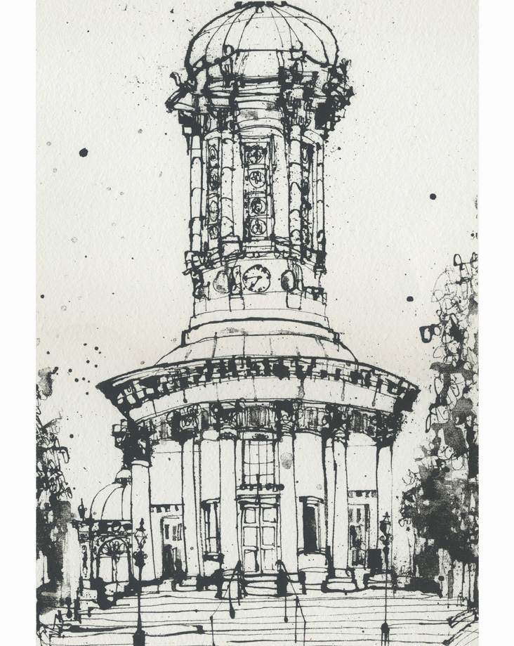 Saltaire United Reformed Church  Screenprint   20 x 29 cm Edition size 150    £49