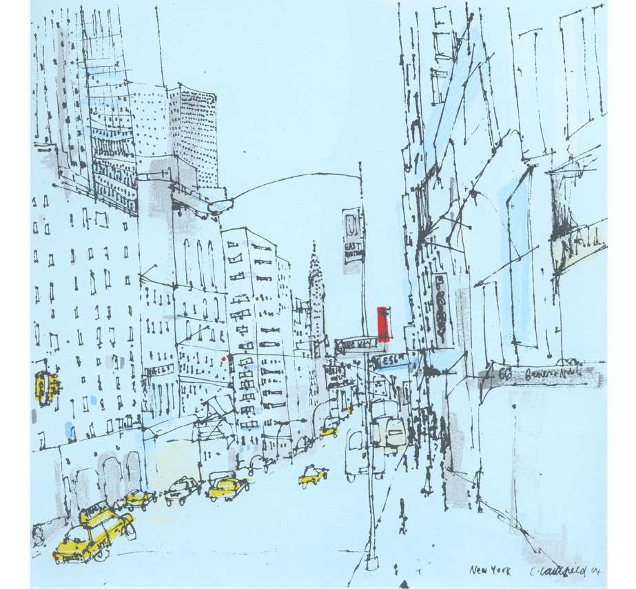 East 56th Street New York  Screenprint  30 x 30 cm Edition size 20     £195