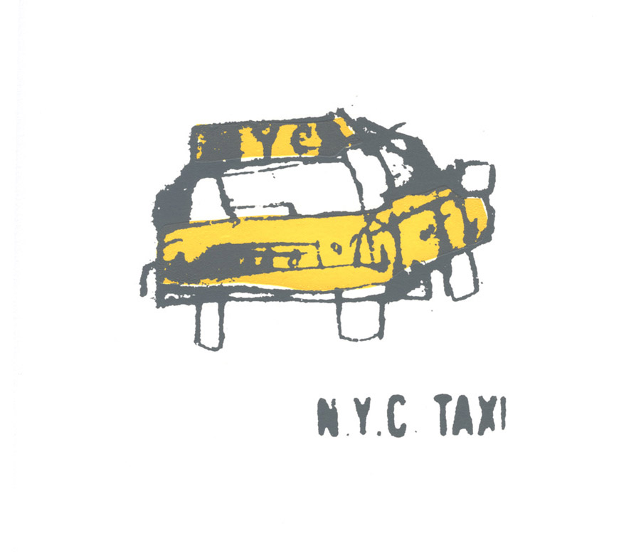 NYC Taxi  Screenprint  14 x 12 cm Edition size 150   £45
