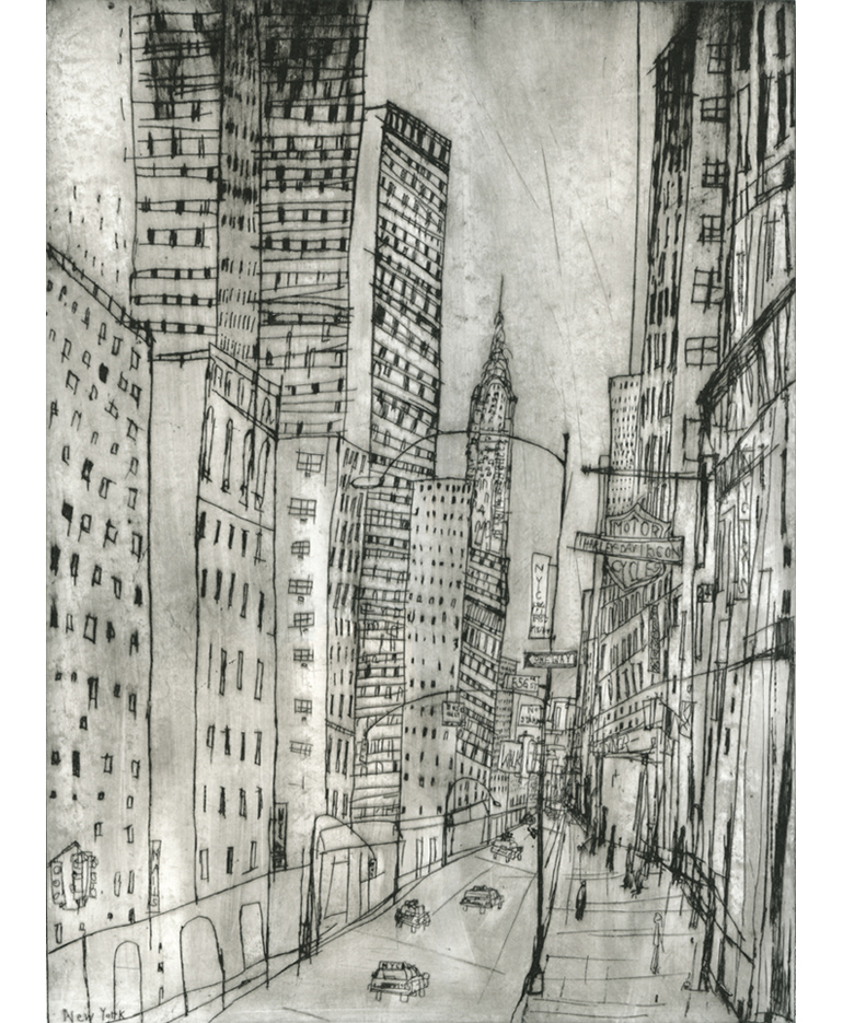 The Chrysler Building NYC  Drypoint   30 x 40 cm Edition size 20