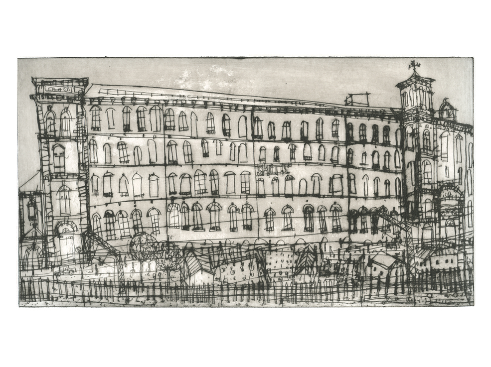 Salts Mill Saltaire  Drypoint  Edition size 20