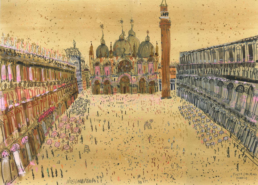 'St. Mark's Square, Venice'           MIXED-MEDIA            Image size   72 x 52 cm               £495  UNFRAMED