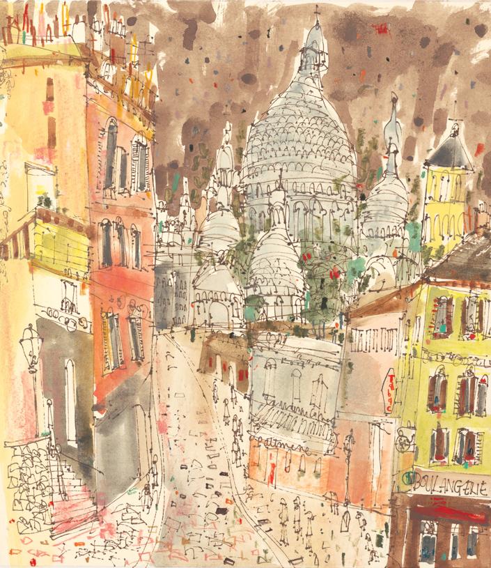 '    Montmartre Chimneys Paris '    mixed-media