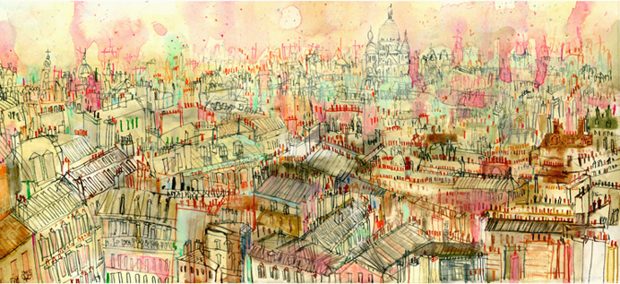 View over Parisian Rooftops