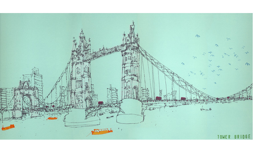 'Tower Bridge London'  Giclee print  44 x 22 cm Edition size 195   £120