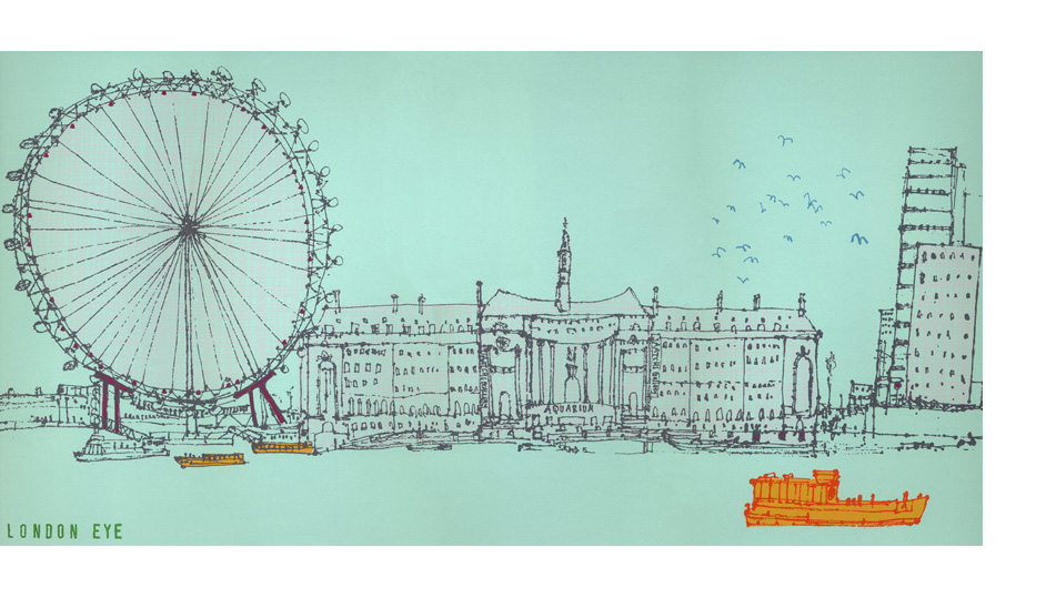 'The London Eye'  Giclee print 44 x 22 cm Edition size 195  £135