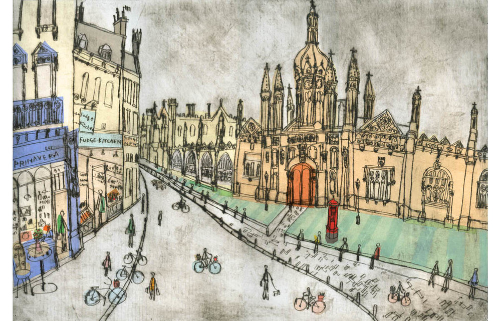 'King's College Cambridge'  Giclee print Image size 41.5 x 28 cm Edition size 195  £145