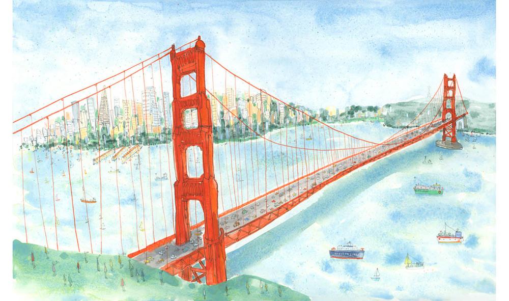 'Golden Gate Bridge San Francisco'  Giclee print 58 x 36 cm Edition size 195 £185