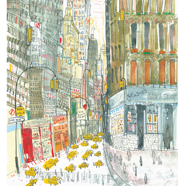 'Glaser's Bake Shop NYC'  (DETAIL FROM PREVIOUS IMAGE)