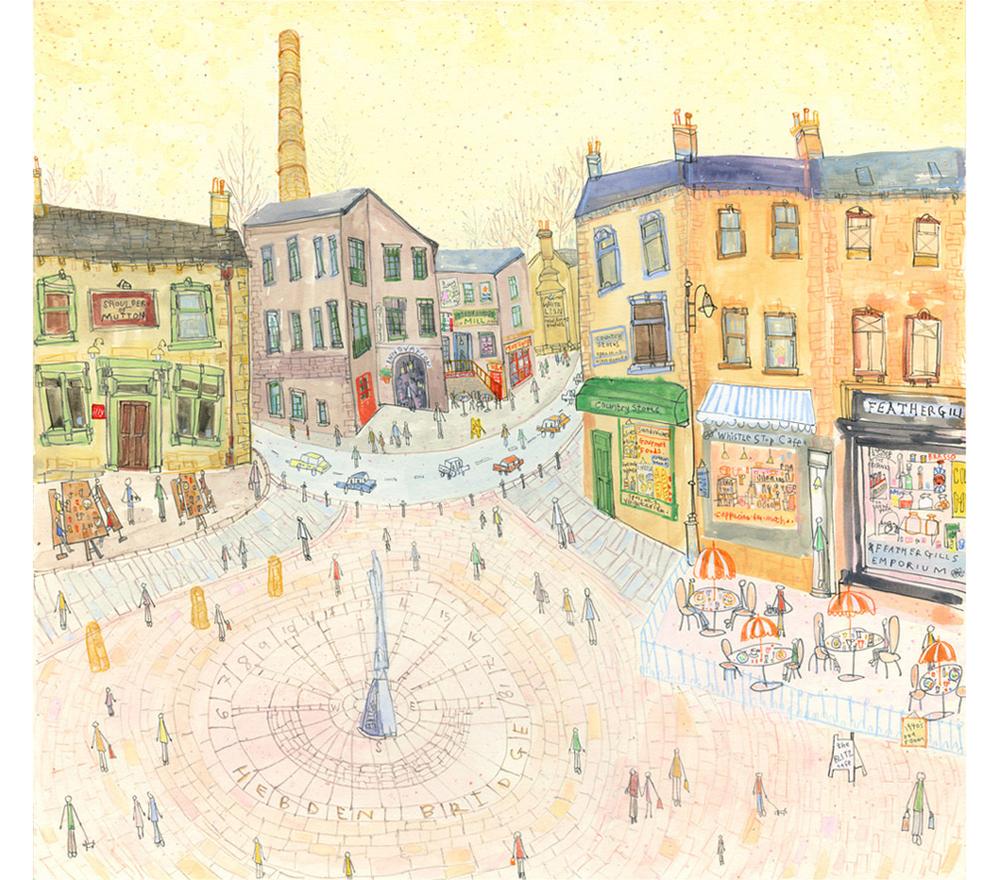 'St. George's Square Hebden Bridge'  Giclee print Image size 41 x 39 cm Edition size 150  £155