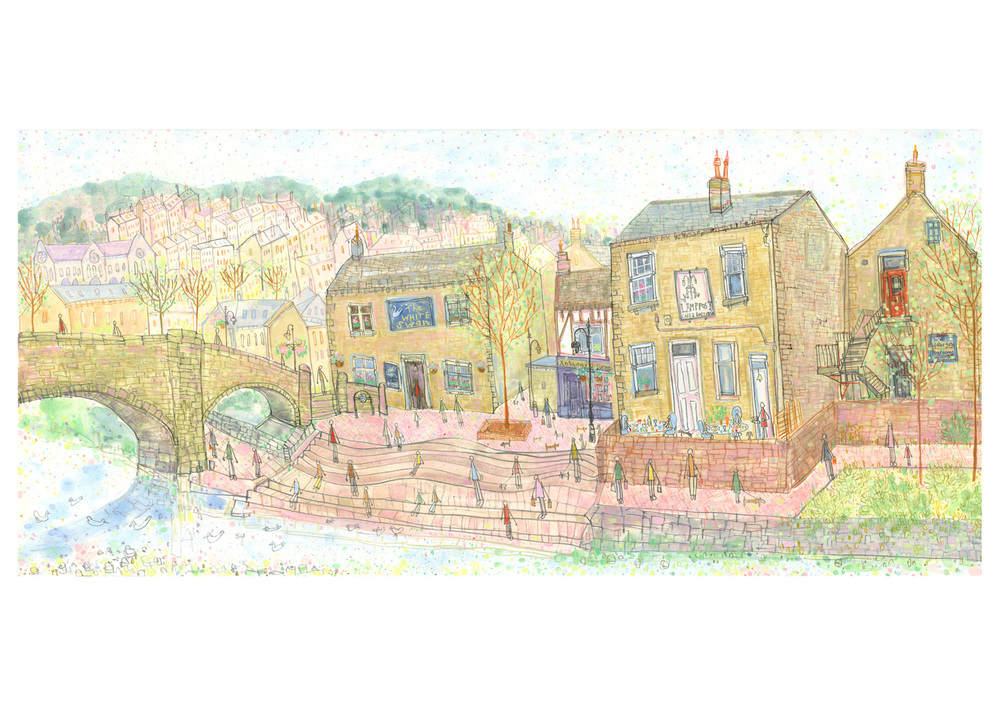 'View from Old Gate Hebden Bridge'  Giclee print Image size 55 x 25.5 cm Edition size 150  £150