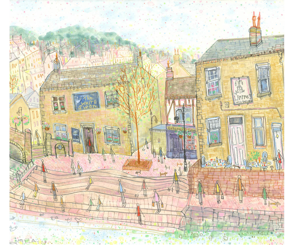 'View from Old Gate Hebden Bridge'  DETAIL FROM PREVIOUS IMAGE