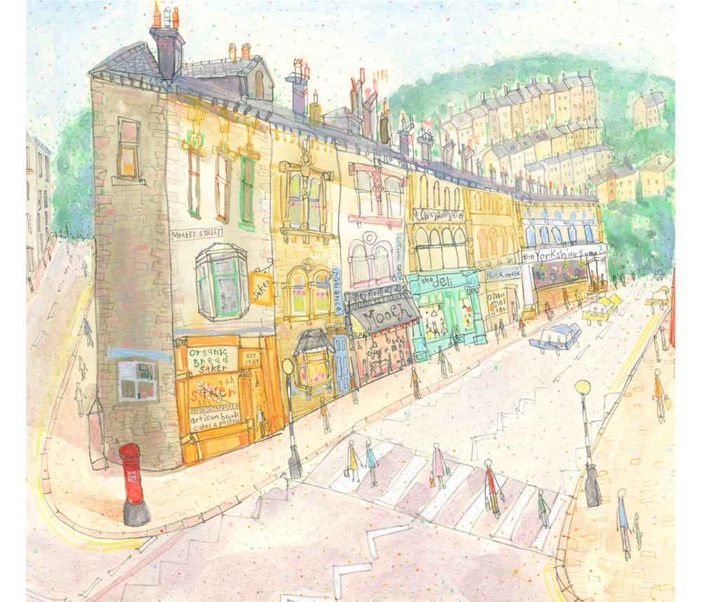 'Market Street & Hangingroyd Road'  DETAIL FROM PREVIOUS IMAGE
