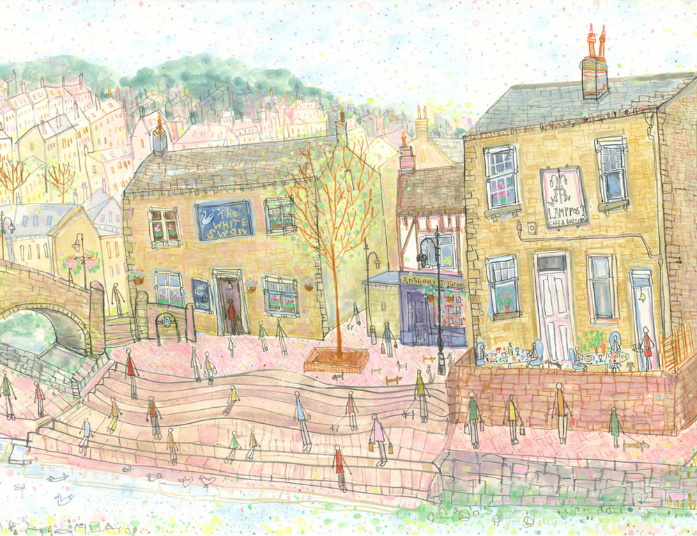 'View from Old Gate Hebden Bridge'      DETAIL FROM PREVIOUS PAINTING