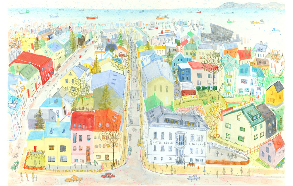 'Reykjavik View'  Giclee print  43 x 28.5 cm Edition size 195   £140