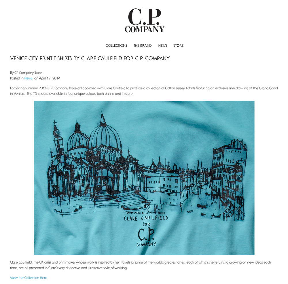 venice city print t-shirts by Clare Caulfield for CP Company.jpg