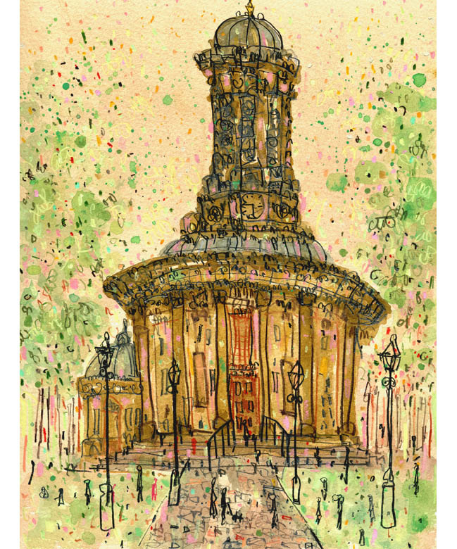 'United Reformed Church Saltaire'  Giclee print   29.5 x 39 cm Edition size 195     £140