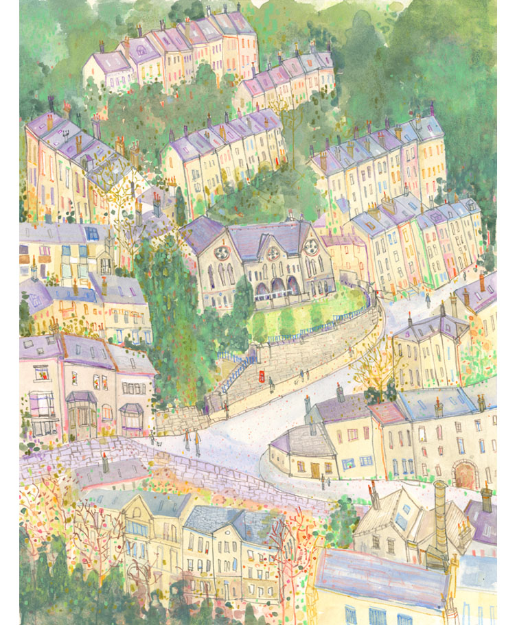 Stubbings School Hebden Bridge  Giclee print   30 x 39 cm Edition size 195     £140