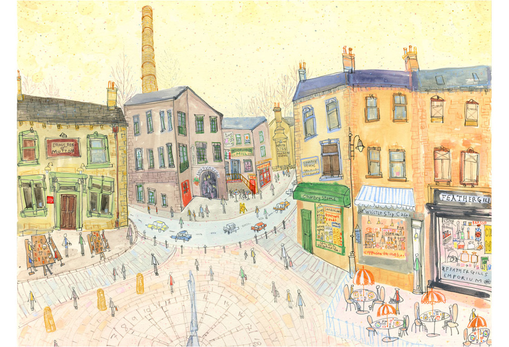 'Feathergills, Hebden Bridge'  Giclee print Image size 43 x 31.5 cm Edition size 150    £145