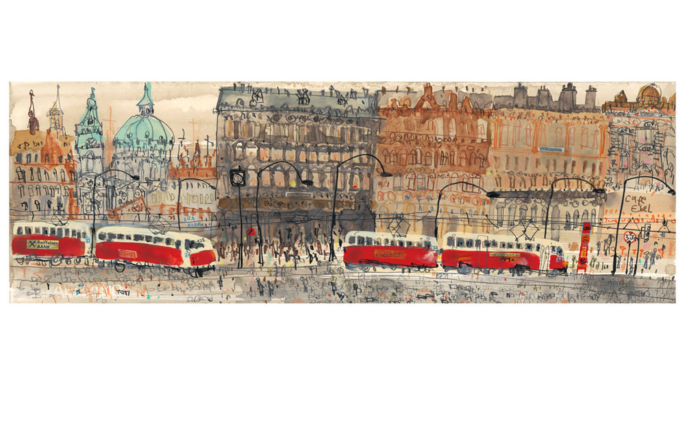 'Old Town Prague'    Giclee print 17 x 50 cm   Edition size 195     £130