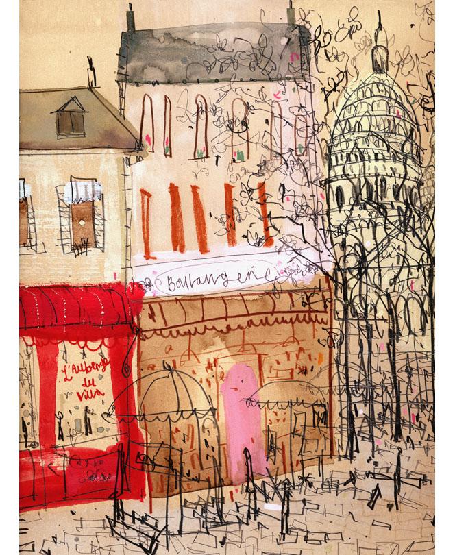 'Montmartre Paris'  Giclee print 30 x 40 cm Edition size 195 £145