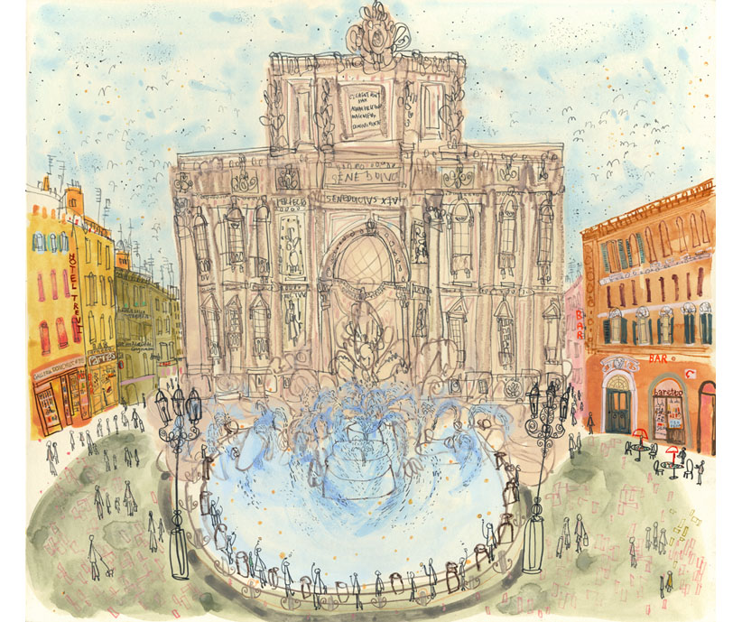 'The Trevi Fountain Rome'  Giclee print Image size  42 x 38 cm Edition size 195 £165