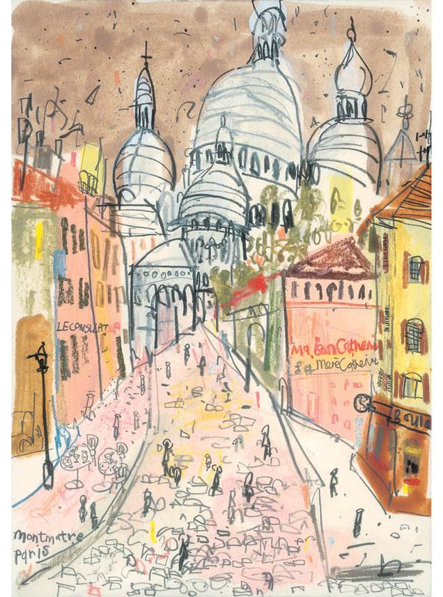 'Sacre Coeur Paris'  Giclee print 29 x 41 cm Edition size 195 £145