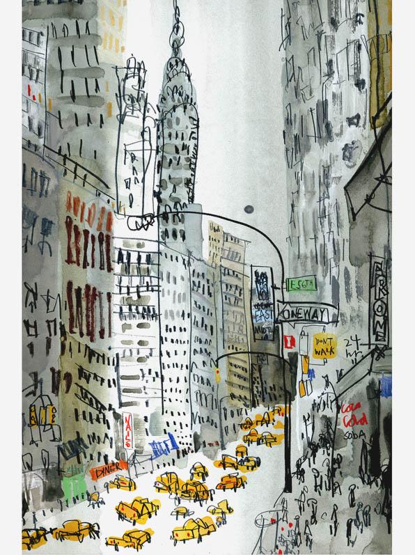 'The Chrysler Mantattan'  Giclee print 28 x 42 cm Edition size 195   £145
