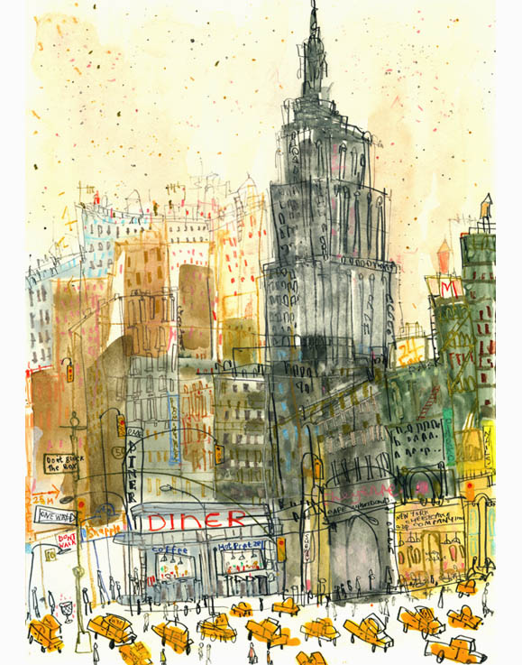 'Empire State Diner NYC'  Giclee print    29 x 41 cm Edition size 195      £140