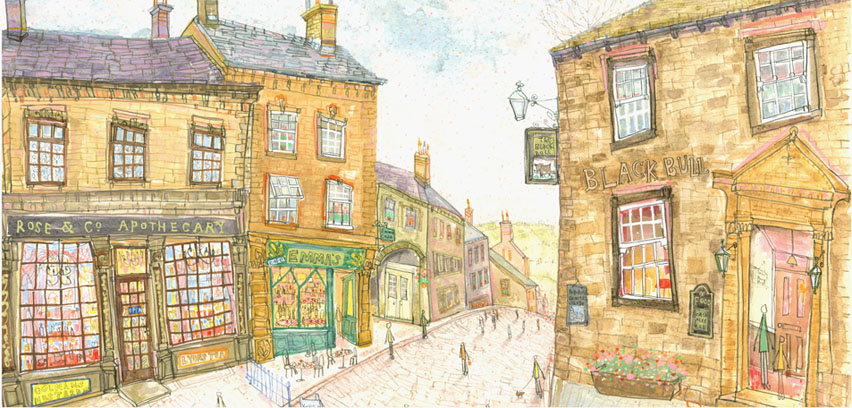 Top of Main Street Haworth