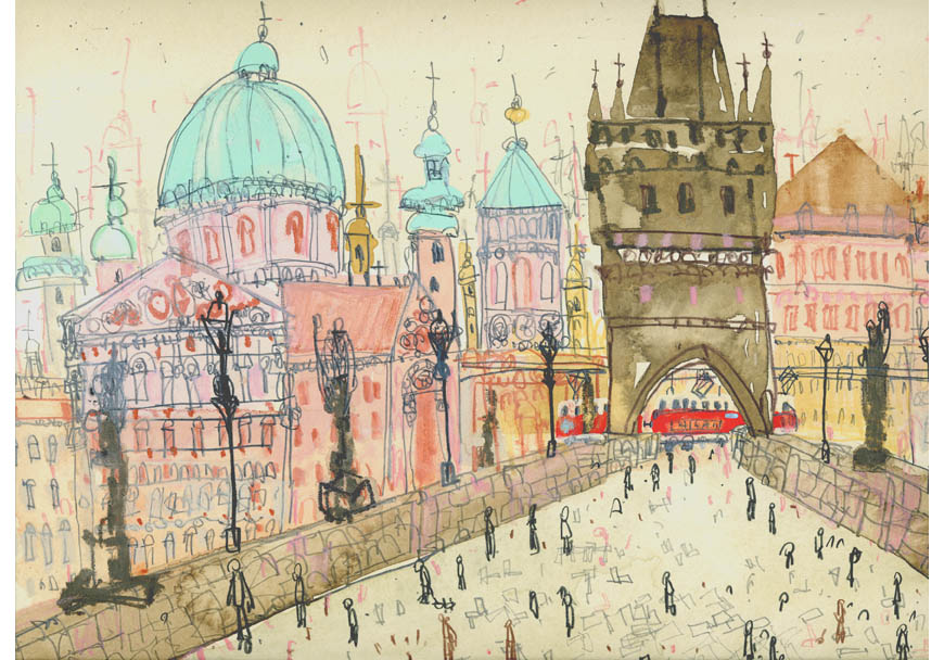 'Charles Bridge Prague'  Giclee print  41.5 x 30 cm Edition size 195    £130