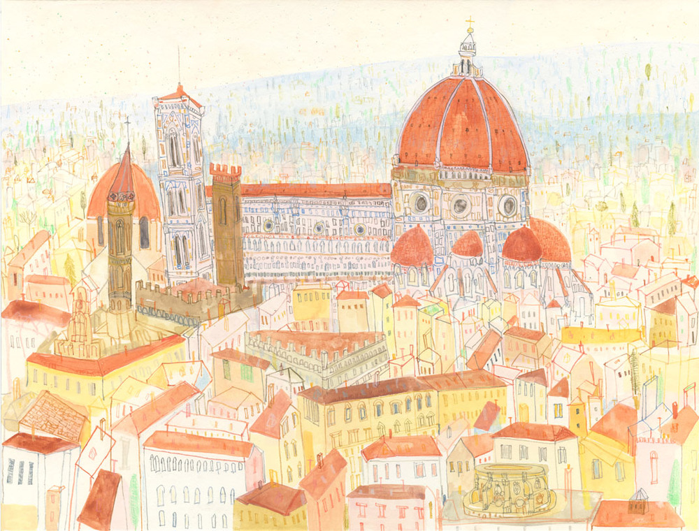 'Duomo di Firenze'  Giclee print Image size 39 x 30 cm Edition size 195 £145