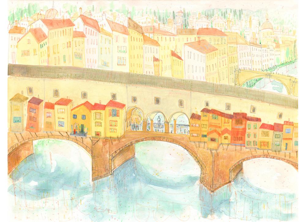 'Ponte Vecchio Florence'  Giclee print Image size 39 x 30 cm Edition size 195  £140